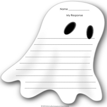 Arthur's Halloween:  Reader's Response Cards