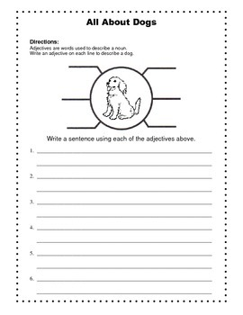 Arthur's New Puppy / Writing Prompt / ABC Order / Math / Adjectives
