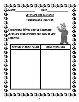 Arthur's Pet Business ~ A Common Core Based Book Study