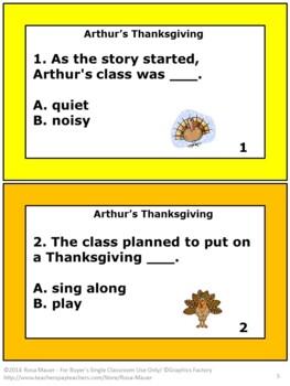 Arthur's Thanksgiving Book Unit