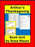 Arthur's Thanksgiving Book Activity Printable Task Cards &