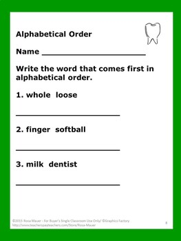 Arthur's Tooth Literacy Unit