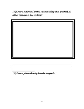 Arthur's Underwear Comprehension Packet