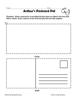 Arthur's Family Vacation Workpages