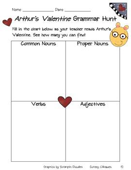 Arthur's Valentine Literacy Unit
