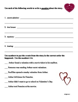 Arthur's Valentine Packet of Skills and Comprehension