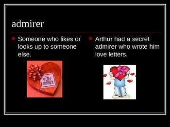 Arthur's Valentine Vocabulary power point