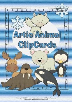 Artic Animal Clip Cards