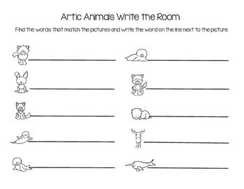 Artic Animals Write the Room