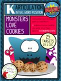 Artic BOOM Cards:  Monsters Love Cookies Game, Initial K