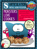 Artic BOOM Cards:  Monsters Love Cookies Game, Initial S
