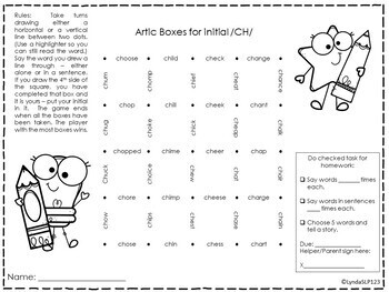 Artic Boxes for all positions of /CH/