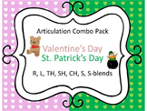 Articulation Valentine's Day & St. Patrick's Day: R, L, TH, SH, CH, S, S-Blends