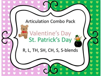Articulation Valentine's Day & St. Patrick's Day: R, L, TH