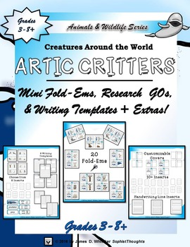 Artic Critters Mini Research Fold-Ems and Interactive Activities
