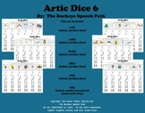 Artic Dice 6:  Vocalic /R/ Articulation Practice for Speech Therapy