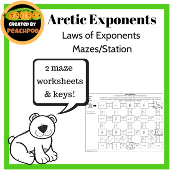 Artic Exponents: Laws of Exponents Mazes