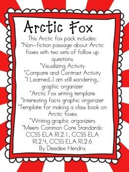 Arctic Fox Non Fiction Pack