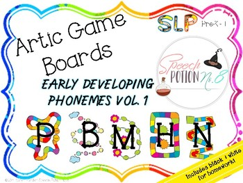 A Potion for Articulation: Game Boards ~ Early Developing Sounds Volume 1