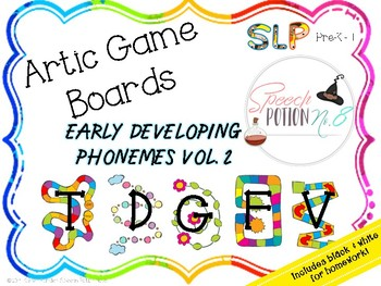 A Second Potion for Articulation: Game Boards ~ Early Developing Sounds Volume 2