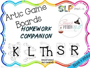 A Potion for Homework: Artic Game Boards ~ Homework Companion for Sampler pack