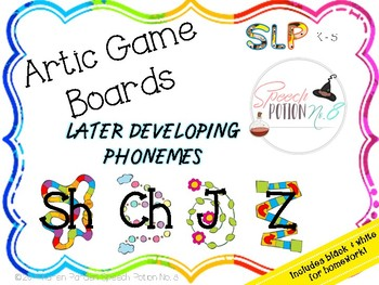 A Potion for Articulation: Game Boards ~ Later Developing Sounds