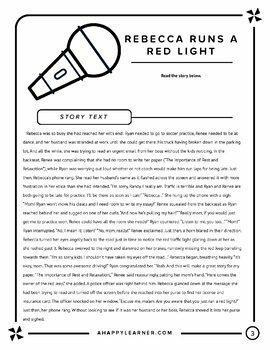 Artic Lit: Initial R Story 1 Roxanne Runs a Red Light