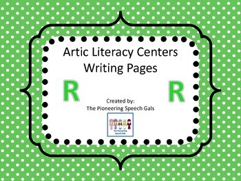 Artic Literacy Centers Writing Pages For R