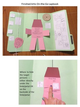"""Artic On-The-Go Lapbooks #3 (targeting /SH/, /CH/, /TH/, & """"J"""")"""