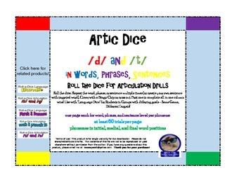 Artic Roll-a-Dice: /d/ and /t/ in words, phrases, and sentences