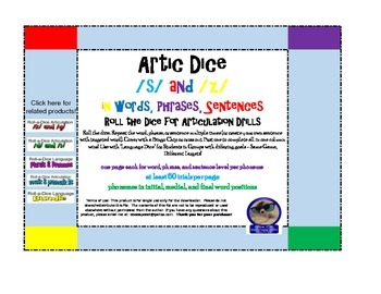 Artic Roll-a-Dice: /s/ and /z/ in words, phrases, and sentences