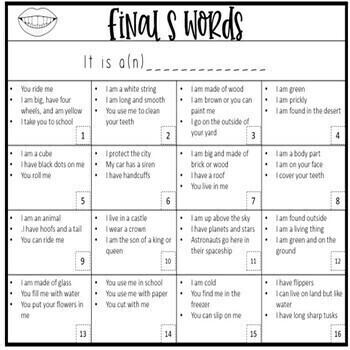 Artic Squared Bingo Riddles: Later Sounds Low Ink #Jan2020halfoffspeech