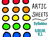 Artic Syllable Sheets - NO PREP