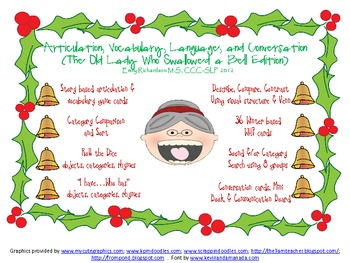 Artic, Vocab, Language,& Conversation (Old Lady Who Swallowed a Bell Edition)