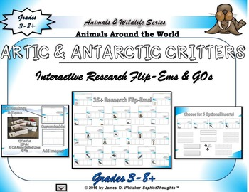 Artic and Antarctic Critters Interactive Activity Bundle