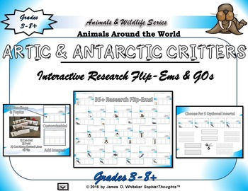Artic and Antarctic Critters Interactive Research Flip-Ems
