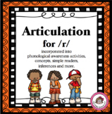 Speech Articulation for /r/ through Concepts and Phonemic Awareness Activities