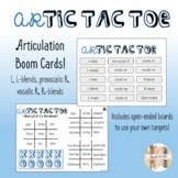 Artic tac toe Articulation Boom Cards: l, l-blends, r, & r blends