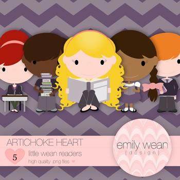 Artichoke Hearts - Little Readers Clip Art