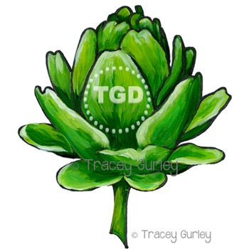 Artichoke Painting Printable Tracey Gurley Designs