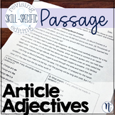 Article Adjectives - a, an & the: Skill-Specific Revising and Editing Passage