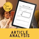 Article Analysis Templates