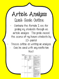 Article Analysis Guide