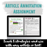 Article Annotation Assignment
