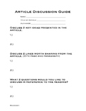 Article Discussion Guide for Nonfiction Text