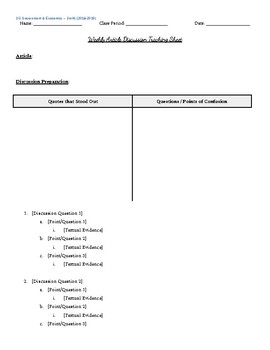 Article Discussion Template