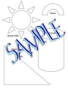 Article Graphic Organizer:  Interactive Notebook Literacy Foldable