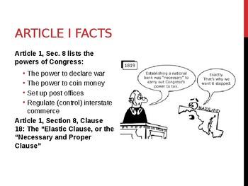 Article I - Congress