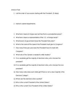 Article II Test