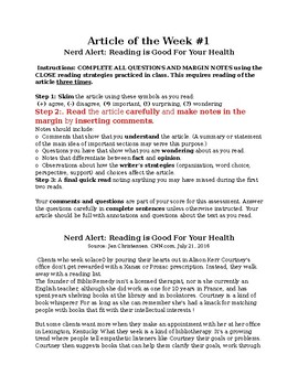 Article: Is Reading Good for Your Health?